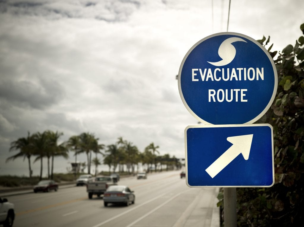 Knowing the best hurricane evacuation route near you at all times is best in hurricane-prone areas.