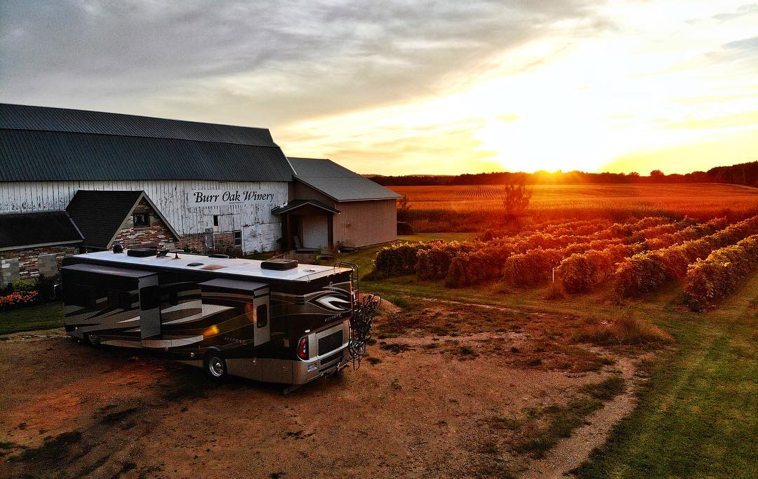 Beautiful Harvest Hosts locations such as this one require dry camping!