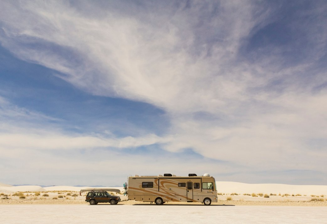 Be sure to find a nice backdrop or landscape when taking photos of your RV.