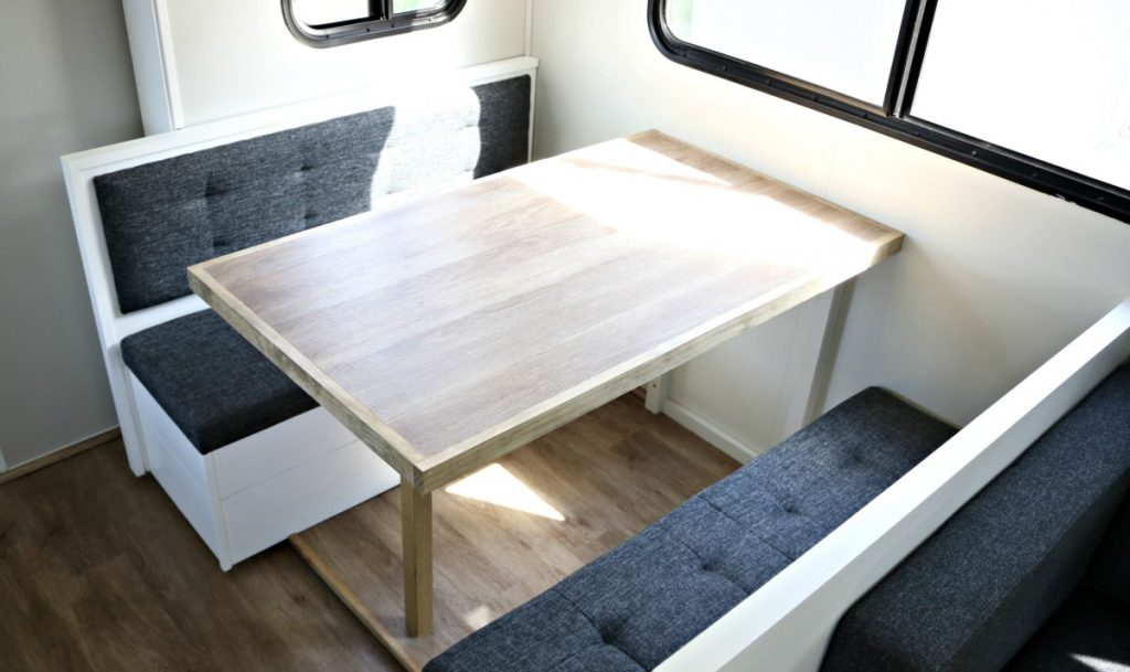 How To Makeover Your Rv Dinette Unique Rv Camping With Harvest Hosts