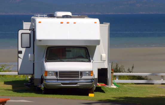 Check hydraulic slideout fluid levels as part of RV maintenance.