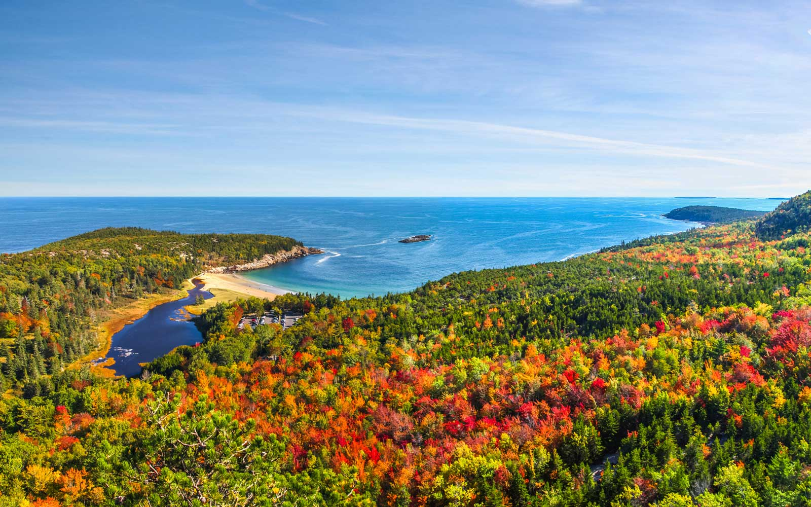 Acadia is especially beautiful in the fall.