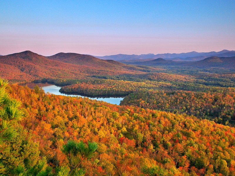 The Adirondacks of New York are one of the most gorgeous places in the US for fall RV camping!