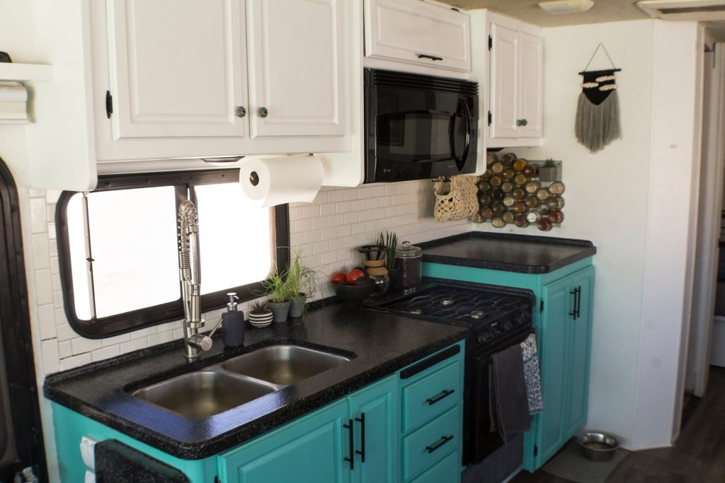 Consider an RV kitchen makeover to completely revamp your space.