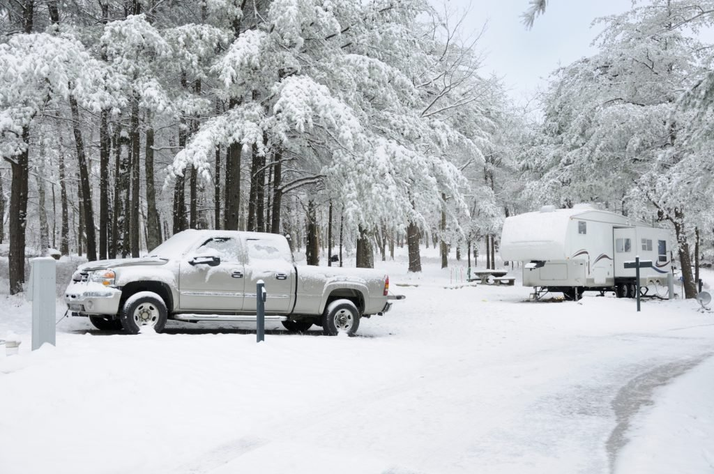 Be sure to winterize your RV before preparing for snow!