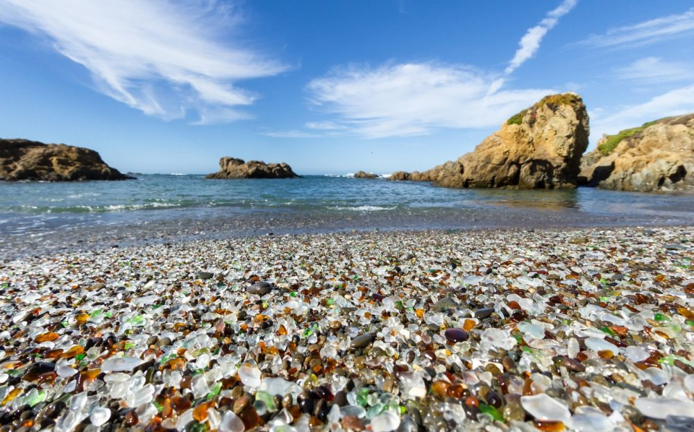 Glass Beach is a beautiful natural place in Fort Bragg, California.