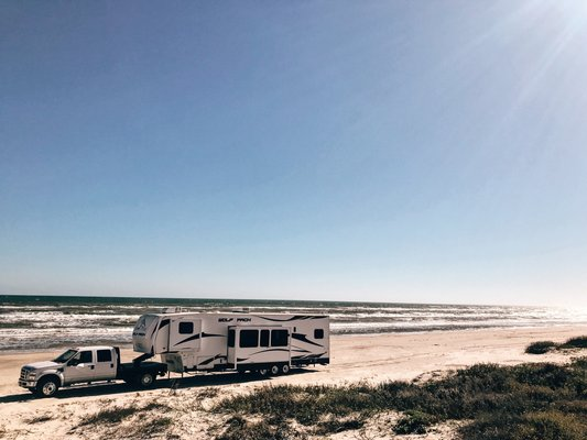 North Beach is a gorgeous Texas free campsite.