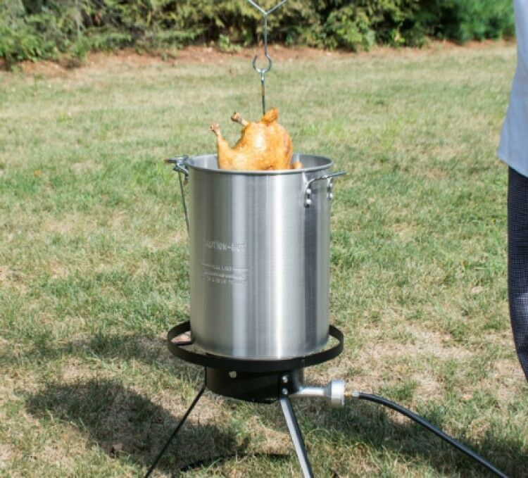 Deep frying your turkey is very helpful on Thanksgiving.