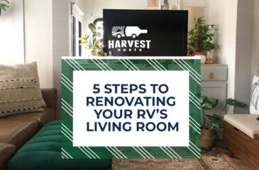 5 Steps to Renovating your RV's Living Room