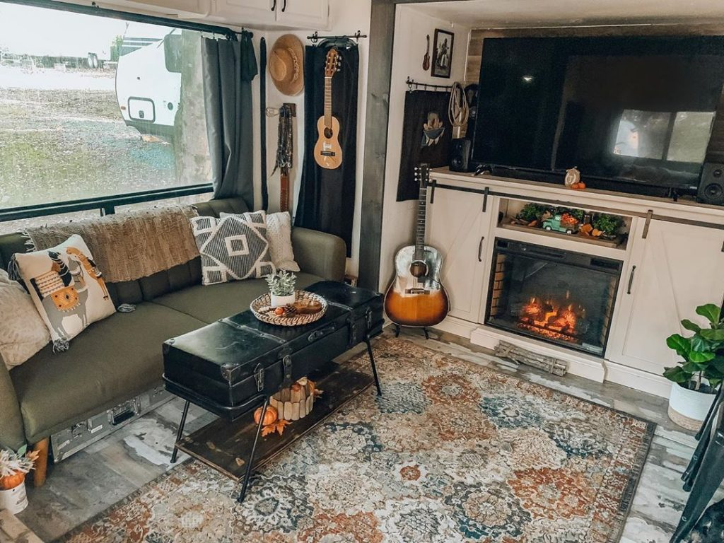 Renovating your RV's living room is a great way to personalize your space.