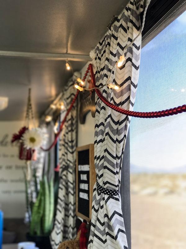 Hang string lights or garland for holiday cheer.