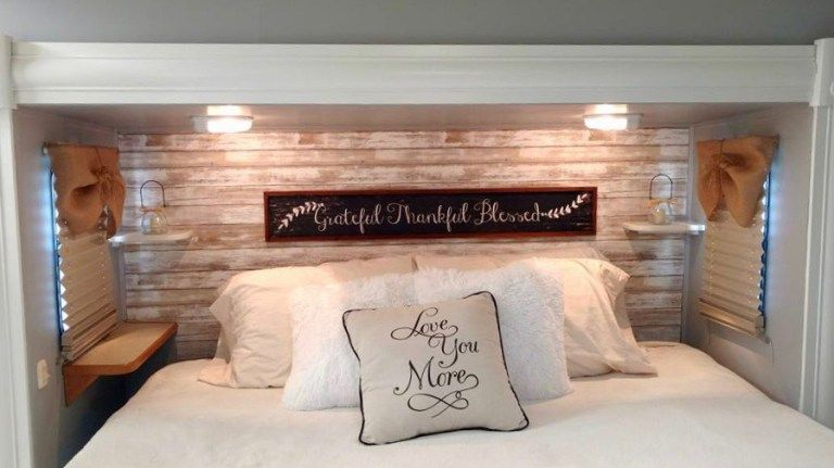 Installing a headboard is a great way to spruce up your RV's bedroom.