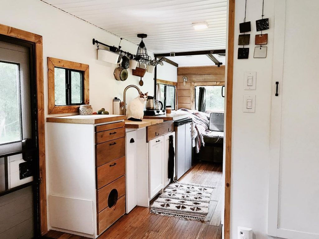 Mallory and Justin's motorhome remodel is stunning.