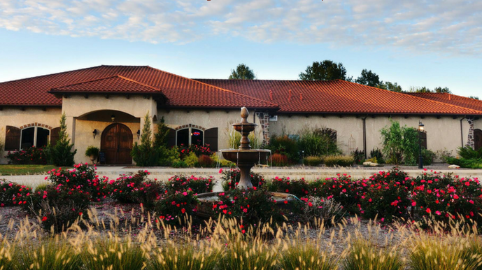 Tuscan Hills is built in an old-world style that resembles the architecture of Tuscany, Italy.