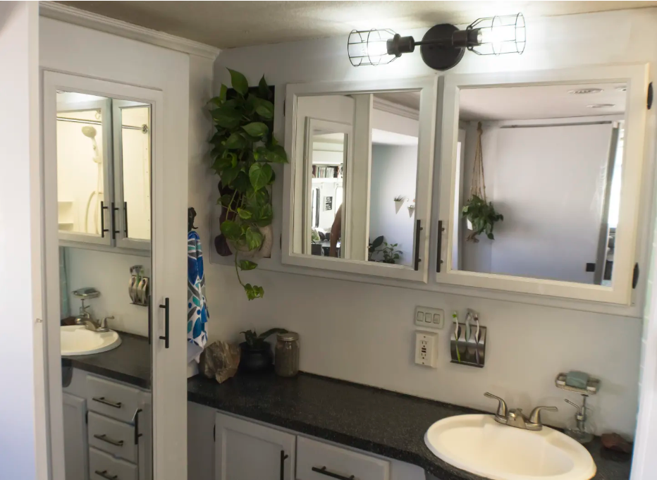 Update your bathroom's lighting to make a big impact on the space.
