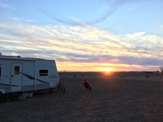 American Girl Mine Road is an ideal place for boondocking.