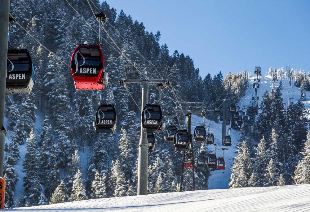 Skiing lifts are abundant in Aspen, Colorado.