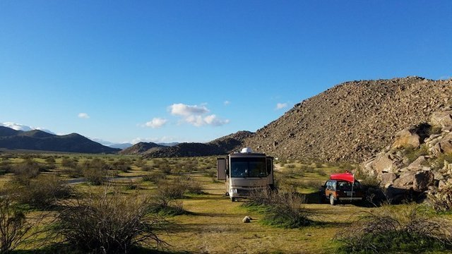 Blair Valley is one of the most beautiful boondocking locations in SoCal.
