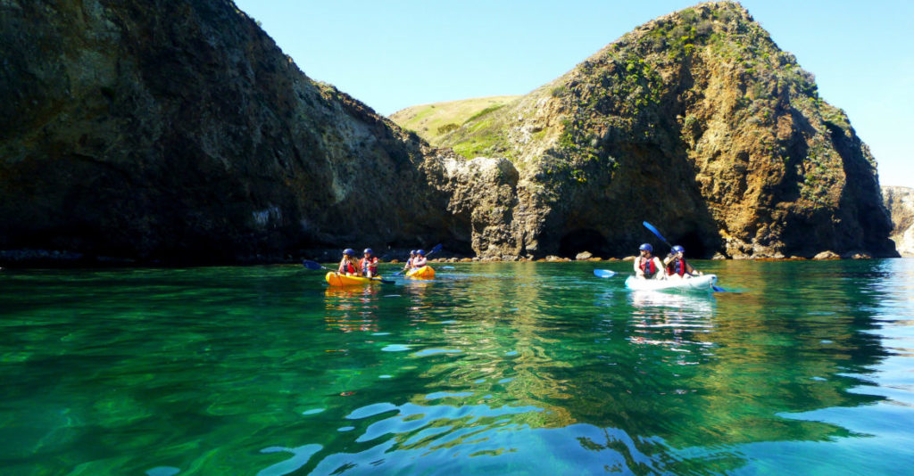 Kayaking is a popular activity at Channel Islands.