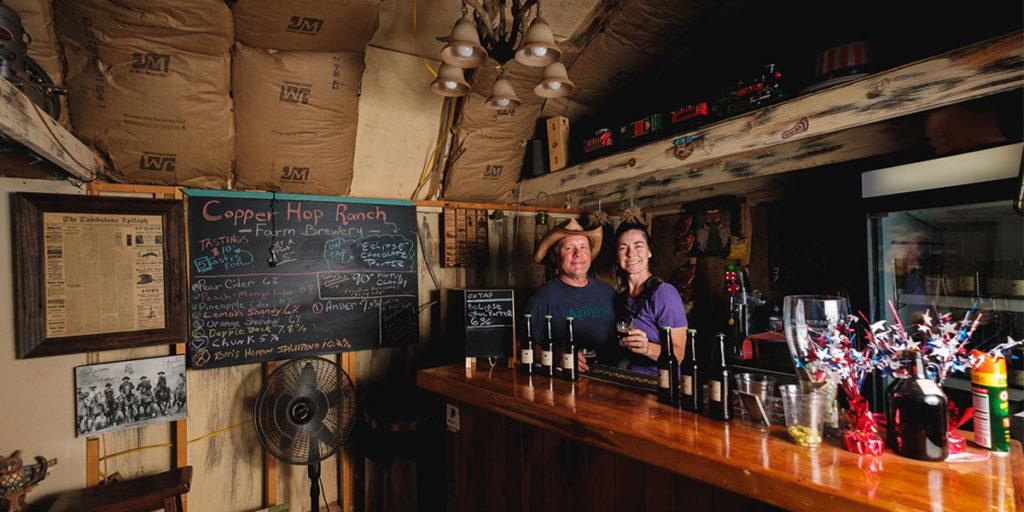 Copper Hop Ranch grows fourteen varietals of hops on premises.