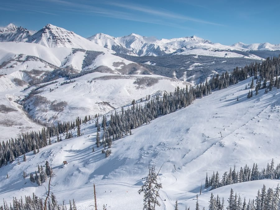 Ski slopes in Crested Butte, Colorado are ready for winter sports lovers.