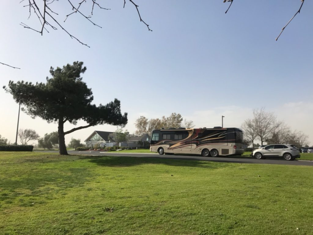 Harvest Host members can stay overnight at Riverlakes Ranch in Bakersfield.