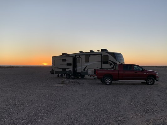 Indian Pass Road is the perfect location for dry camping.