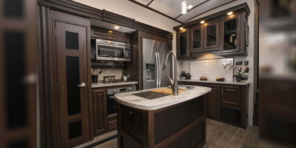 RVs are being built with bigger kitchens in 2020, according to trend predictions.
