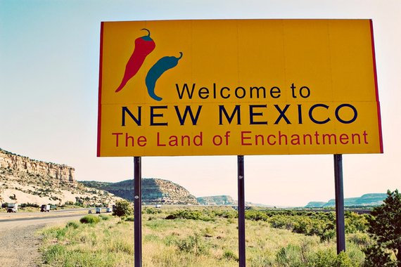 """Welcome to New Mexico"" sign"