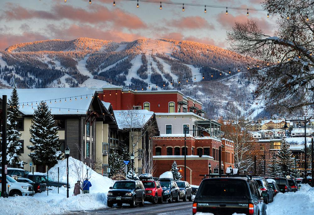 The town of Steamboat Springs, Colorado is beautiful in all four seasons.