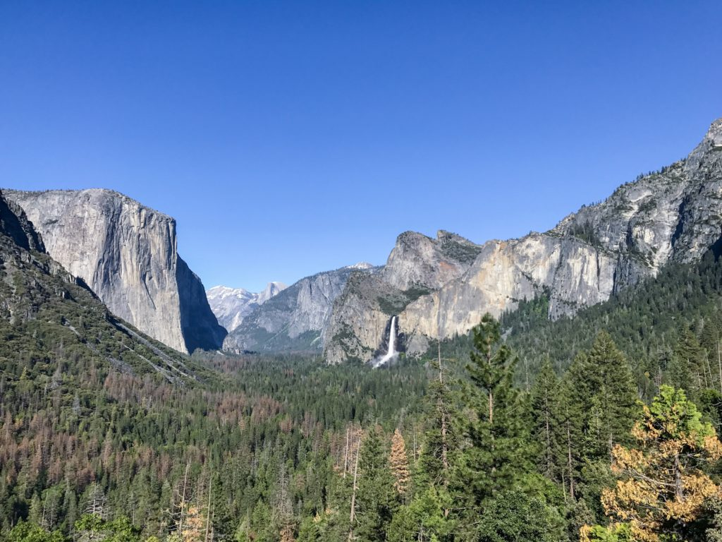 Tunnel View in Yosemite is one of the most beautiful places in the park.