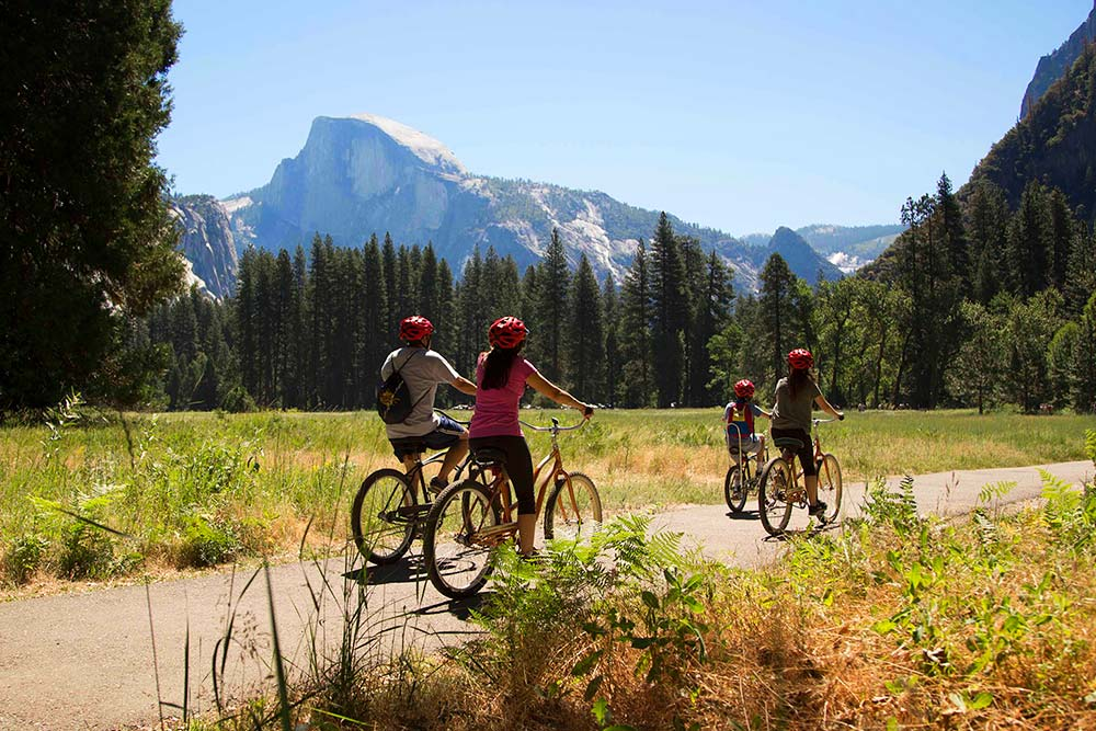Biking can be a great mode of transportation in Yosemite Valley.