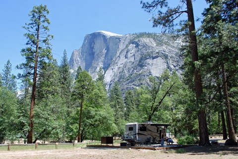 Yosemite Valley campgrounds book far in advance.