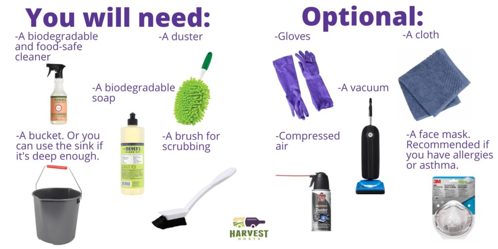 RV cleaning supplies list