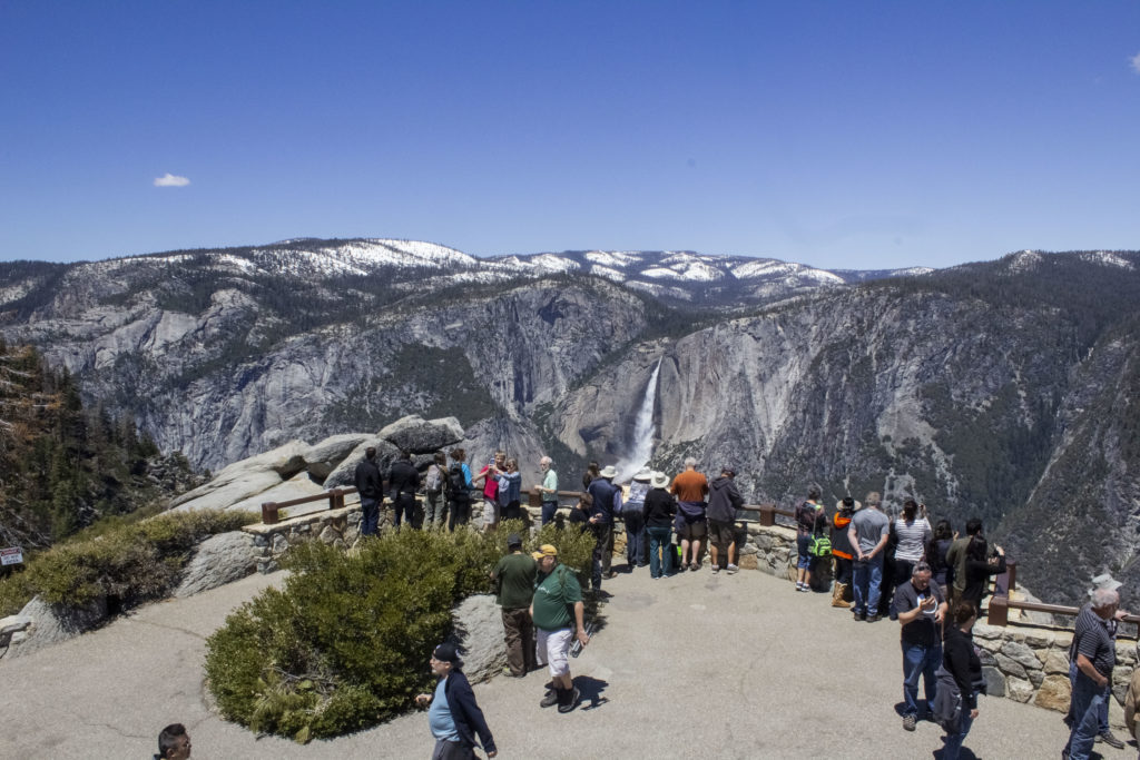 Yosemite can be quite crowded in the summer.