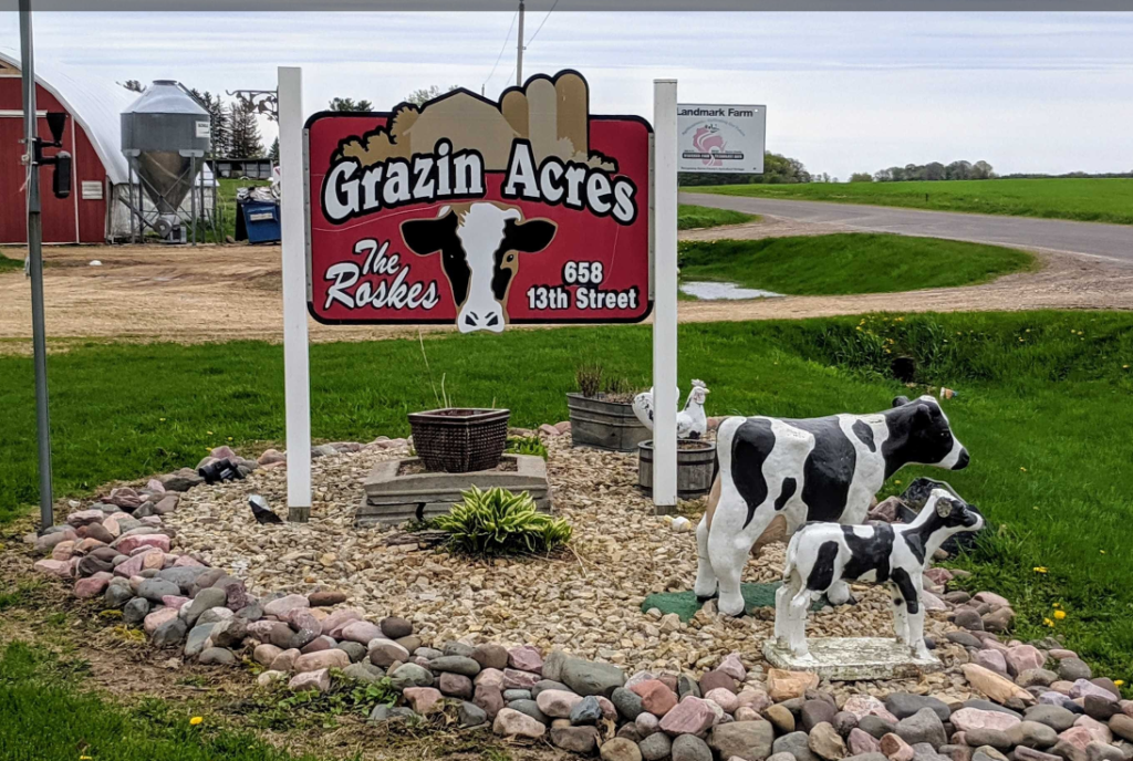 Grazin Acres Dairy Farm produces raw and organic milk products.