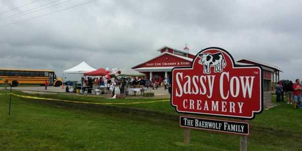 Sassy Cow Creamery produces excellent milk and ice cream.