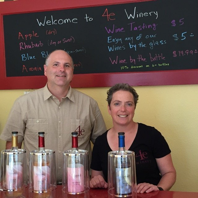 Greg and Lisa are the owners of 4e Winery.