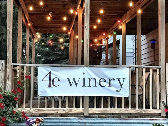 4e Winery has a beautiful patio for visitors to enjoy wine and a picnic.