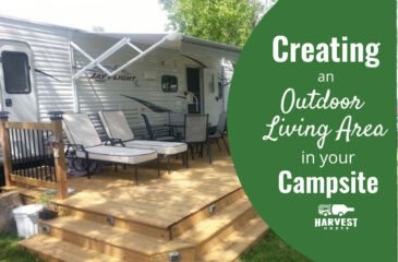 Creating an Outdoor Living Area in your Campsite