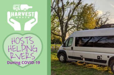 Harvest Hosts Helping RVers Travel Safely During COVID-19 Lockdowns
