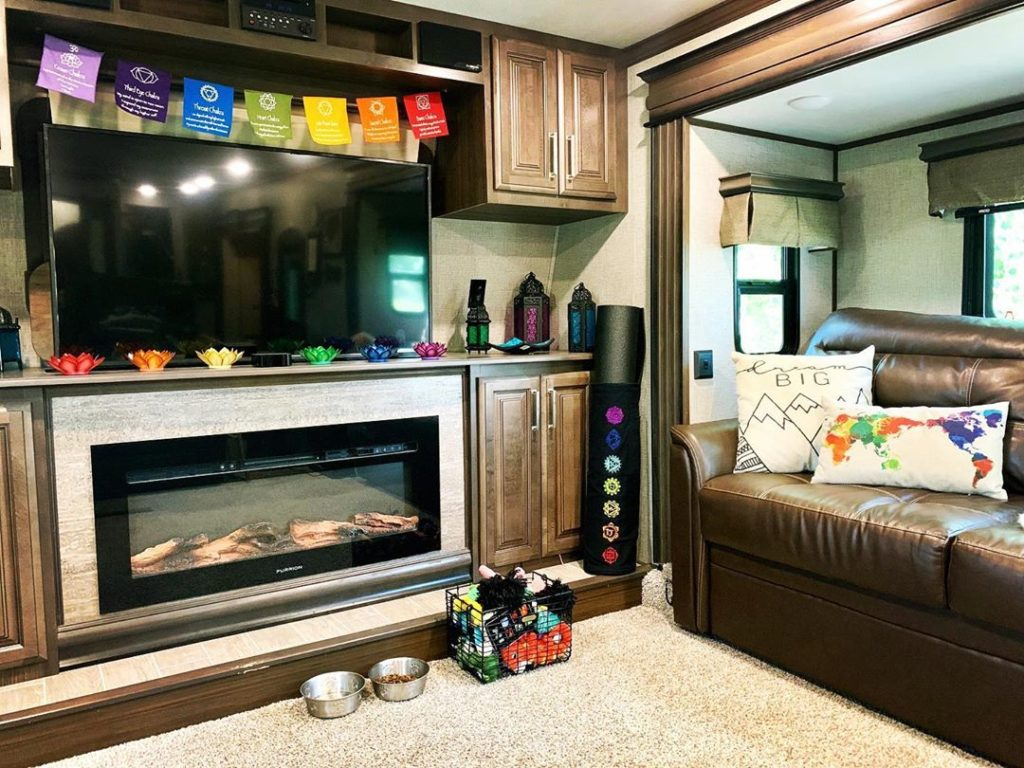 Adding candles and plants can be an excellent way to decorate your RV.