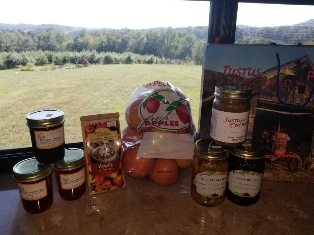 When staying at Justus Orchard, be sure to stock up on apple and fruit products.