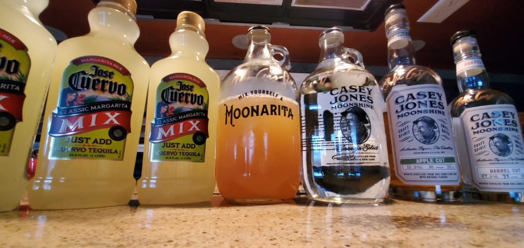 They produce a variety of moonshines, bourbons, and moonaritas.