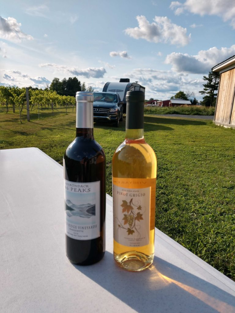 They bottle a variety of wines each year from their estate and local grapes.