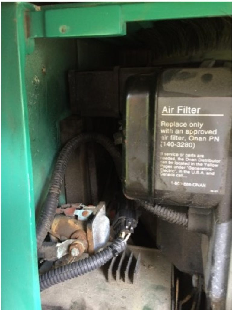 Replacing your air filter is a necessary and regular part of generator maintenance.