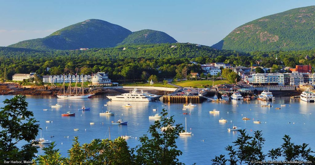 Bar Harbor, Maine, is beautiful in the warm summer months.