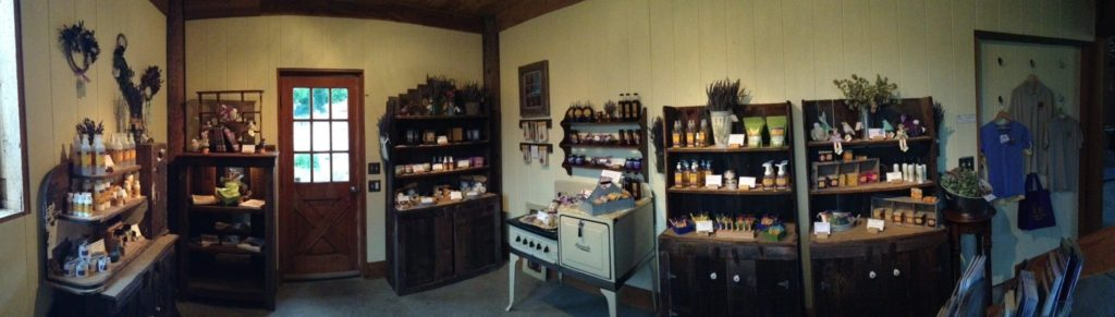 The lavender products include soaps, lotions, oils, and more.