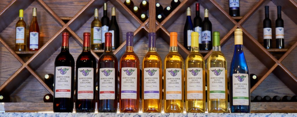 Horseshoe Bend Cellars makes a variety of excellent wines.