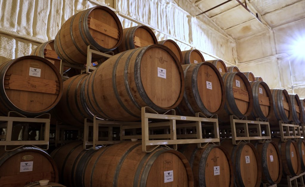 The wines are all made and processed on the property.
